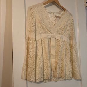 Michael Kors Cream Lace Blouse NWT Sz 8